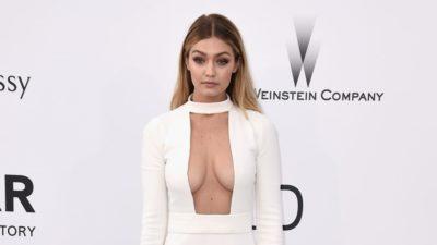 Gigi Hadid Beyaz Elbisesi İle Nefes Kesti